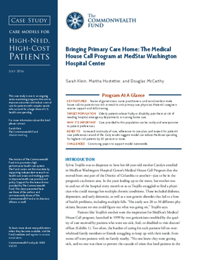 Bringing Primary Care Home: The Medical House Call Program at MedStar Washington Hospital Center