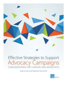Effective Strategies to Support Advocacy Campaigns: Considerations for Funders and Advocates