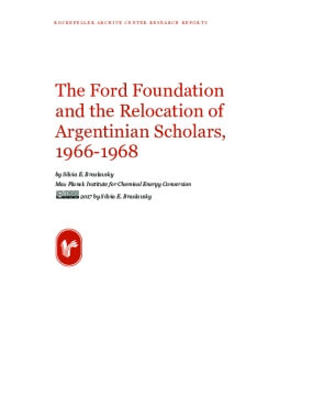 The Ford Foundation and the Relocation of Argentinian Scholars, 1966-1968