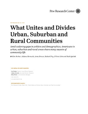 What Unites and Divides Urban, Suburban and Rural Communities