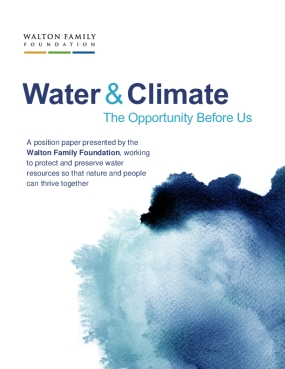Water & Climate: The Opportunity Before Us