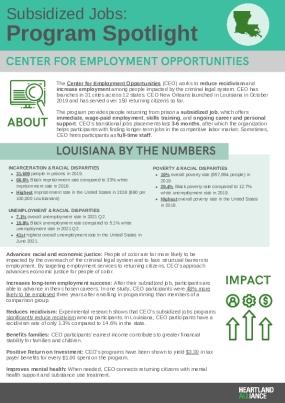 Subsidized Jobs Program Spotlight: CEO Louisiana