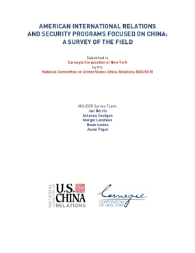 American International Relations and Security Programs Focused on China: A Survey of the Field